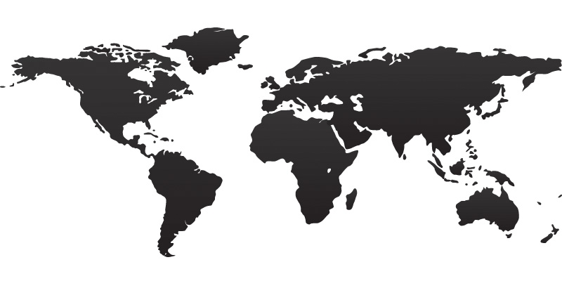 black and white world map 001